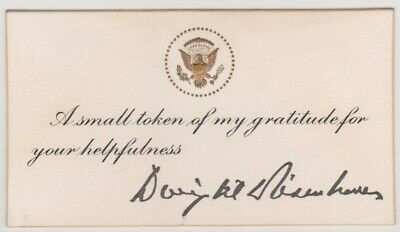 President Dwight D. Eisenhower Thank You Card And Presidential Coin, 1959