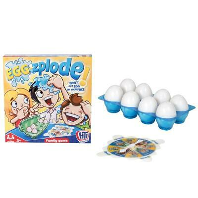 HTI Toys Traditional Games Eggzplode Family Board Game For Kids Multicoloured