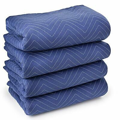 """Moving Blankets Blanket Heavy Duty Shipping Furniture Pads 80"""" X 72"""" 4 Pack"""