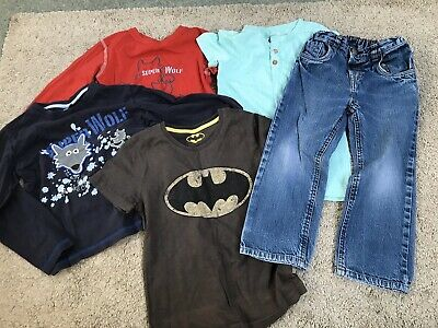 Bundle Of Boys Clothing 4-5 Yrs Tops And Jeans