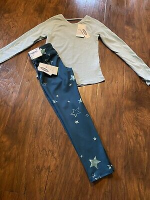 OLD NAVY ACTIVE 2 PIECE GIRLS OUTFIT SIZE 6/7 Features Stars Leggings NWT!