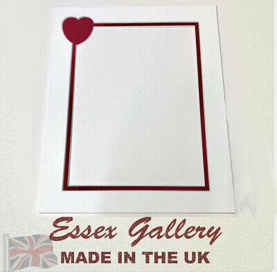 Valentines Day Picture And Photo Frame Mounts SOFT WHITE & Red
