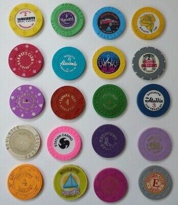 LOT of 20 Casino ROULETTE Chips - Las Vegas & US - Binion's Horseshoe,Stardust +