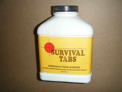 Survival Tabs Emergency Food Rations 15 Day Supply 180 Tablets 10 Yr Shelf Life