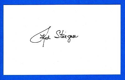 Red Steagall Country Singer, Songwriter and Actor Signed 3x5 Index Card C16944