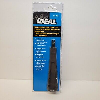 Ideal 110 Style Punch Down Tool- Non Cutting/ Non Impact Tool- Free Ship