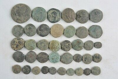 Lot 39 Greek bronze coins for cleaning 500- 100 BC
