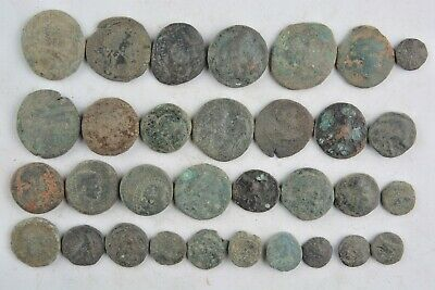 Lot 32 Greek bronze coins for cleaning 500- 100 BC