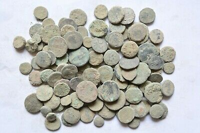 Lot 119 Greek bronze coins for cleaning 500- 100 BC