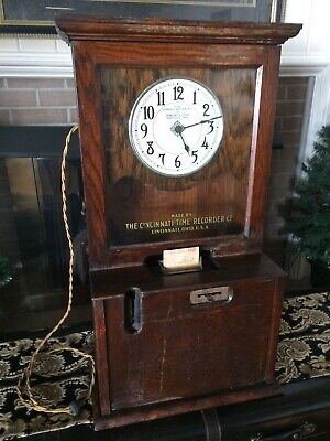Vintage Cincinnati Time Recorder Working Electric Clock