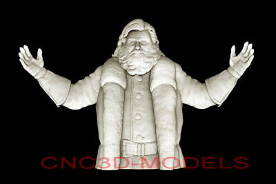 3D Model STL for CNC Router Artcam Aspire Merry Christmas Santa Claus D685