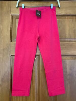 NWT Tea Collection ITALY dark pink Hollyhock cropped leggings sz 12