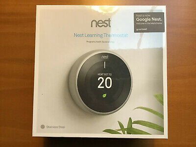 Nest Learning Thermostat 3rd Generation - Stainless Steel - Sealed Box