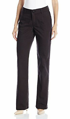 LEE Women's Size 14 Long Midrise No Gap Madelyn Trouser Jet Black New #27