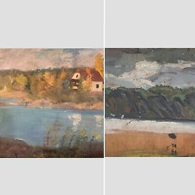 original canadian group of seven Double sided Ay Jackson GEORGIAN BAY 1929 oil