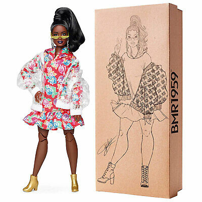 Barbie BMR1959 Curvy Fashion Doll in Floral Dress & Clear Bomber Jacket (GHT94)