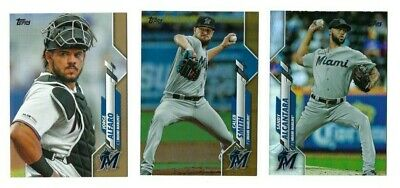 MIAMI MARLINS Gold Rainbow Foil Parallel 2020 Topps Series 1 You Pick Team Set