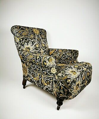 Antique Victorian 19th Century Lounge Library Chair Howard And Son Style