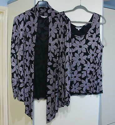 Chesca - Waterfall Jacket & Vest Top  - Black - Size 3 - Excellent