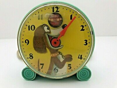 VINTAGE 1950's GENERAL ELECTRIC GE TRIXIE DOG BOUNCING BALL CLOCK - WORKS!