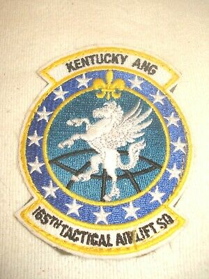 AIR FORCE 142ND TACTICAL AIRLIFT SQUADRON DELAWARE AIR GUARD PATCH USAF U.S