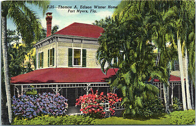 Fort Myers, Florida, Thomas Edison, Winter Home - Postcard (B8)