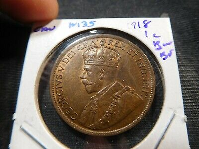 M35 Canada 1918 Large Cent BU Brown