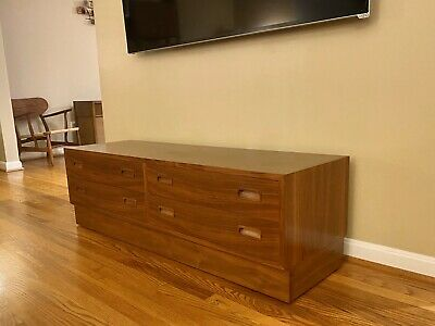 1960s Mid-Century Modern Paul Hundevad Four Drawers Chest / Credenza