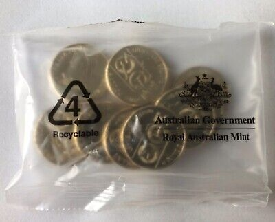 2020 $1 x 10 UNC Coins QANTAS Centenary In Sealed RAM Bag -PRE ORDER POST -17feb