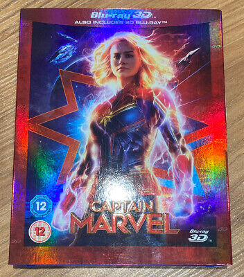 CAPTAIN MARVEL BLU-RAY WITH THE 3D DISC And 2d Blu-ray Used