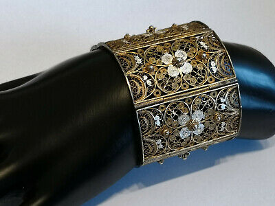 Art Deco braclet silver sterling antique braclet filigree italy 1930 TOP