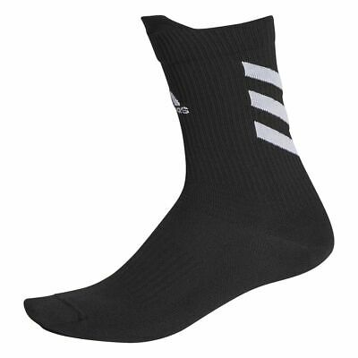 Adidas Sports Football Soccer Mens Kids Alphaskin Ultra Light Crew Socks Black
