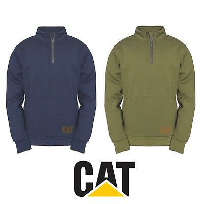 Details about  /Caterpillar Mens AG 1//4 Zip Pull Over Jumper Eclipse