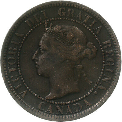 1887 Canadian Large Cent Circulated See Photos C796