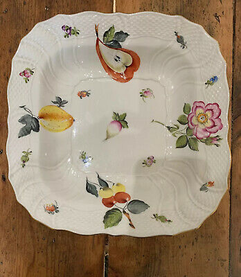 Herend Dish Flowers And Fruits