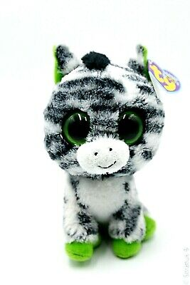 Sparkly//Shiny Feet /& Ears Ty Beanie Boos ~ ZIG-ZAG the Zebra NEW MWMT 6 Inch