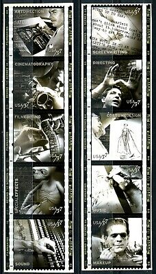 American Film Making Complete Set of 10 S/A MNH $.37 Stamps Scott's 3772a to j