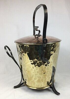 Antique Copper & Iron - Log / Coal / Wood Bucket, 'Arts & Crafts' (Hearthware)