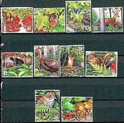 Northeast Deciduous Forest Complete Set 10 $.37 S/A MNH Stamps Scotts 3899A to J