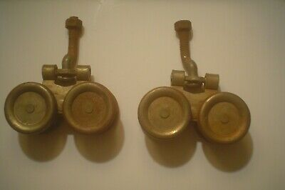 Pair Vintage National Barn Door Box Rail Hangers Trolleys Rollers