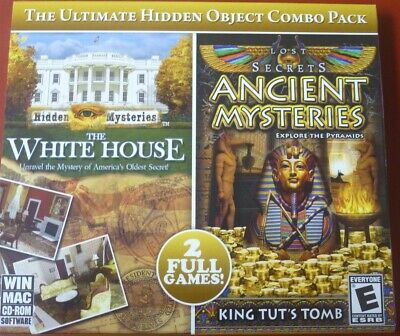 Video Game PC Hidden Mysteries The White House & Lost Secrets Ancient Mysteries