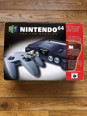 Nintendo 64 N64 Video Game Console System with Box - Authentic