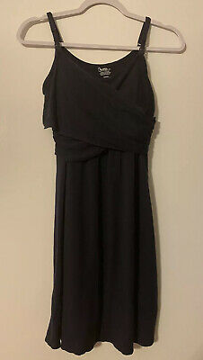 Bump In The Night From Motherhood Maternity Navy Nursing Night Gown S Small