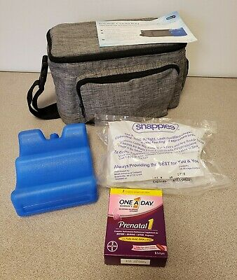 Enfamil Infant Baby Formula Cooler Bag Ice Pack Snappies One a Day Prenatal
