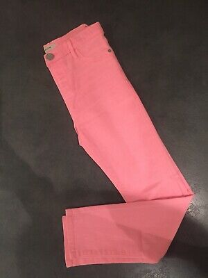 Girls River Island Salmon Pink Skinny Jeans Aged 11 Years