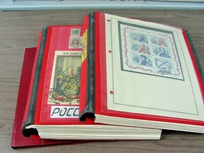 RUSSIA, Fantastic Stamp Collection/Accumulation in 2 Volumes, + a stock book