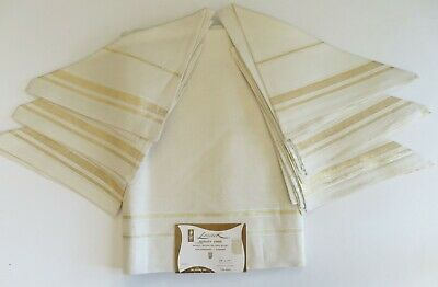 Vintage Linen Tablecloth with 6 Napkins Lunchen Set with Label Leacock