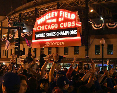 2016 World Series Chicago Cubs WRIGLEY FIELD Glossy 8x10 Photo Print Poster