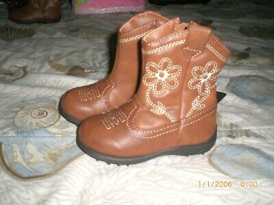 Infant Girls Cowgirl Boots Size 5 Brown New With Tags