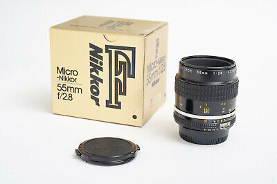 Nikon Micro Nikkor 2,8 55 mm Ai-S, OVP, sehr guter Zustand